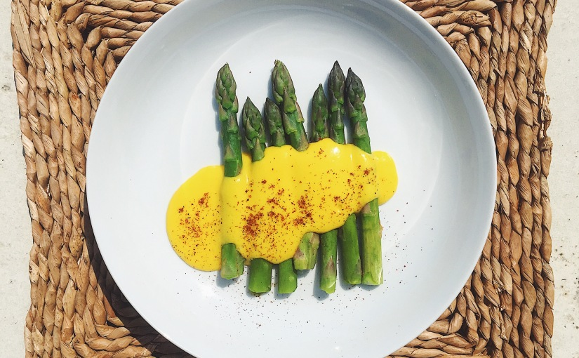 Asparagus and golden mayo