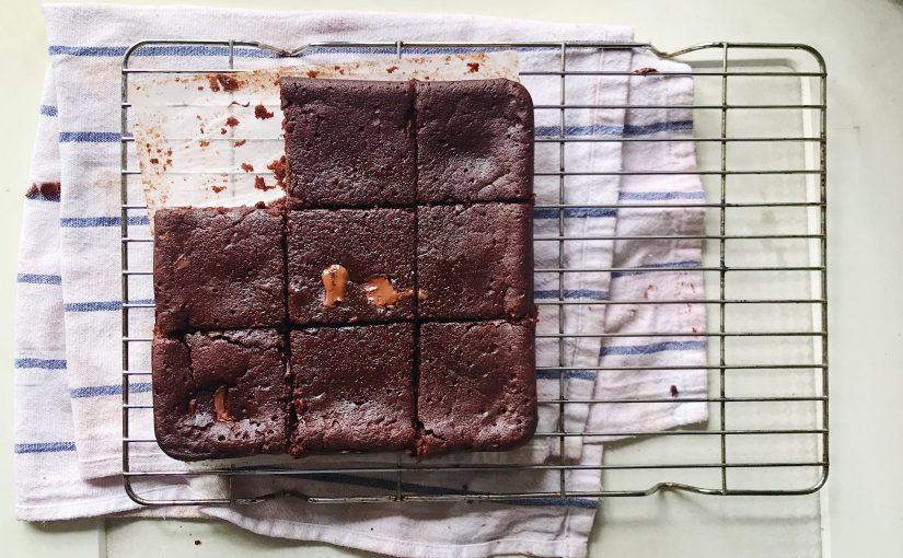 Fudgiest ever (vegan) chocolatebrownies
